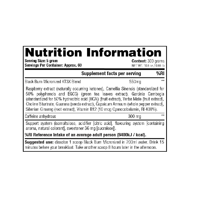 Stacker2-Black-Burn-Micronized-Nutrition-Facts-300-g