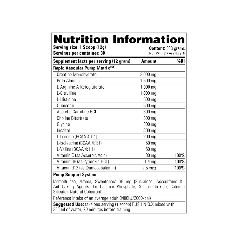 Stacker2-Rush-N.O.X-Nutrition-Facts-360-g