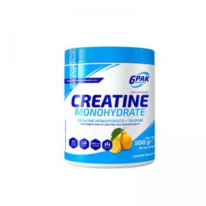 6Pak_Nutrition_Creatine_Monohydrate+Taurine_Lemon_500_g